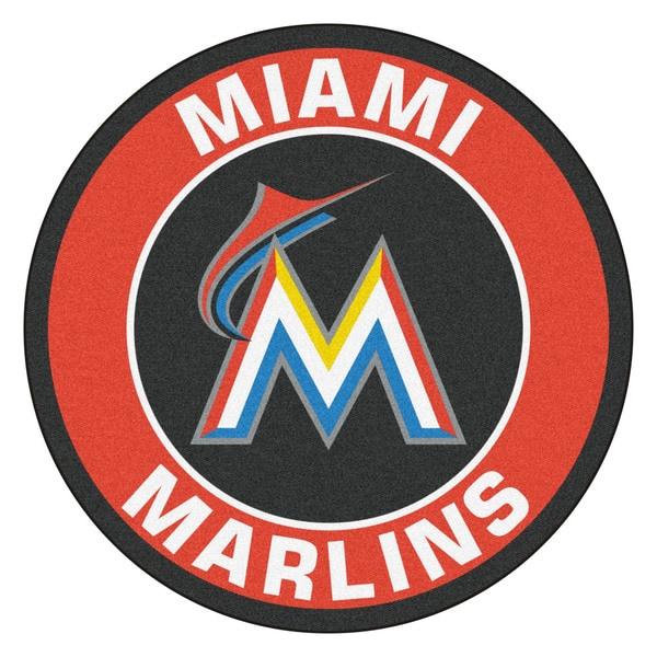 Fanmats MLB Miami Marlins Red Nylon Roundel Mat (2'3 x 2'3)