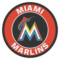 Fanmats MLB Miami Marlins Red Nylon Roundel Mat (2'3 x 2'3)