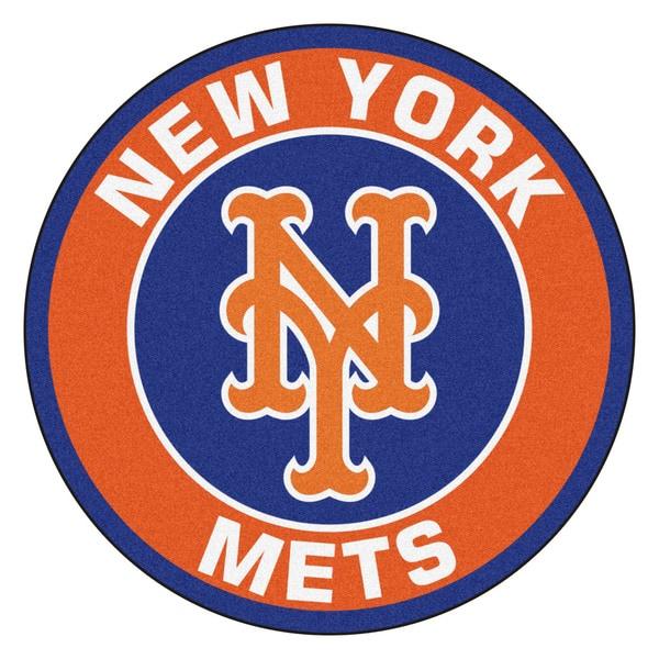Fanmats MLB New York Mets Orange Nylon Roundel Mat (2'3 x 2'3)