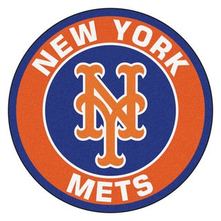Fanmats MLB New York Mets Orange Nylon Roundel Mat (2'3 x 2'3)