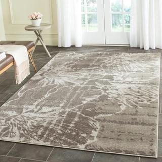 Safavieh Porcello Modern Floral Grey/ Dark Grey Rug (6' x 9')