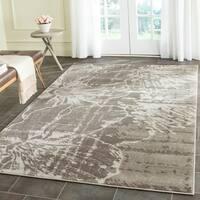 Safavieh Porcello Modern Floral Grey/ Dark Grey Rug - 6' x 9'