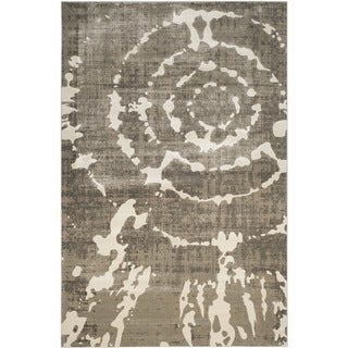 Safavieh Porcello Abstract Contemporary Grey/ Ivory Rug (6' x 9')