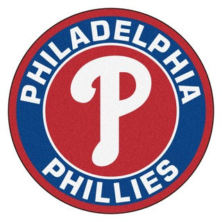 Fanmats MLB Philadelphia Phillies Red and Blue Nylon Roundel Mat (2'3 x 2'3)