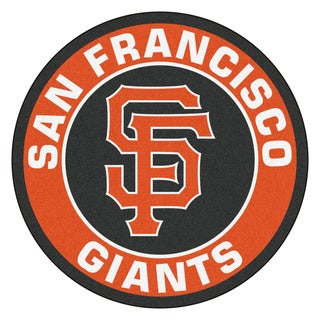 Fanmats MLB San Francisco Giants Orange and Black Nylon Roundel Mat (2'3 x 2'3)