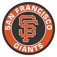Fanmats MLB San Francisco Giants Orange and Black Nylon Roundel Mat (2'3 x 2'3)