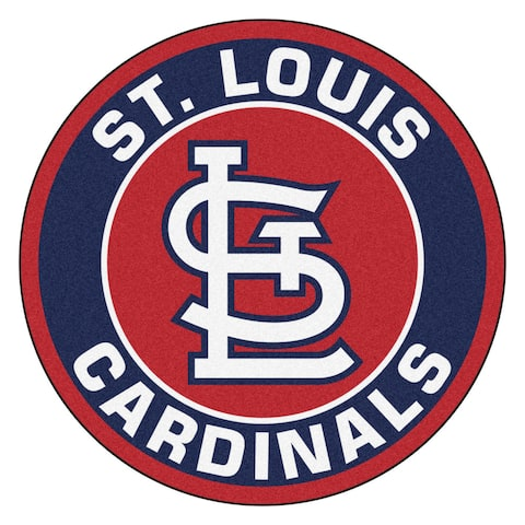 Fanmats MLB St. Louis Cardinals Red and Navy Nylon Roundel Mat (2'3 x 2'3)