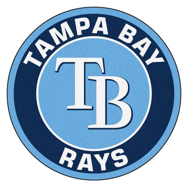 Fanmats MLB Tampa Bay Rays Blue and Navy Nylon Roundel Mat (2'3 x 2'3)