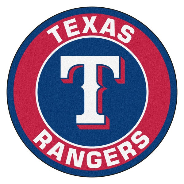 Fanmats Mlb Texas Rangers Red And Navy Nylon Roundel Mat