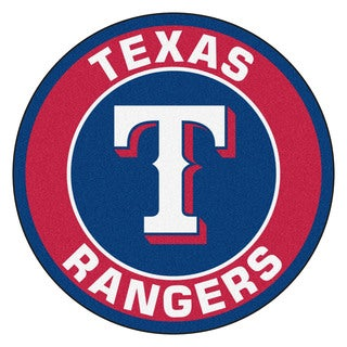 Fanmats MLB Texas Rangers Red and Navy Nylon Roundel Mat (2'3 x 2'3)