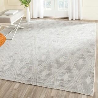 Safavieh Handmade Mirage Modern Silver Wool/ Viscose Rug (8' x 10')