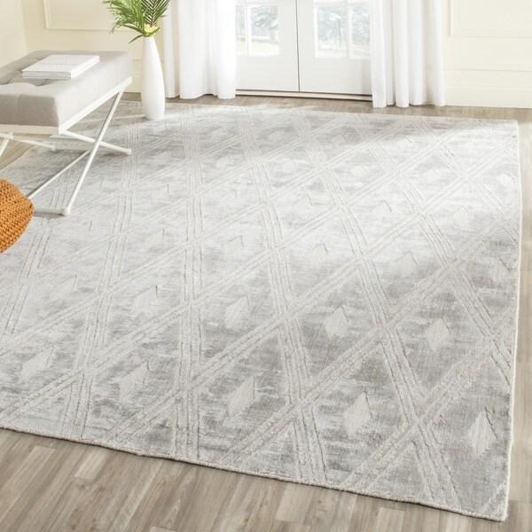 Safavieh Handmade Mirage Modern Silver Wool/ Viscose Rug - 8' x 10'