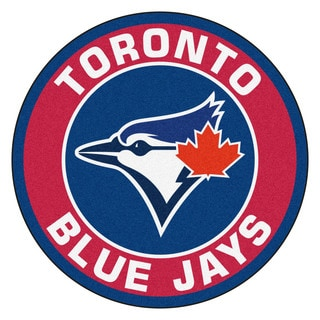 Fanmats MLB Toronto Blue Jays Red and Blue Nylon Roundel Mat (2'3 x 2'3)