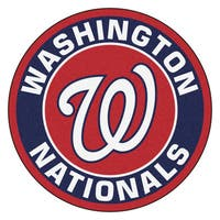 Fanmats MLB Washington Nationals Red and Navy Nylon Roundel Mat (2'3 x 2'3)