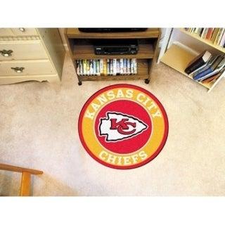 Fanmats NFL Kansas City Chiefs Goldand RedNylon Roundel Mat (2'3 x 2'3)