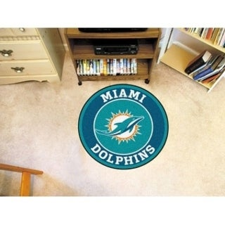 Fanmats NFL Miami Dolphins Green Nylon Roundel Mat (2'3 x 2'3)