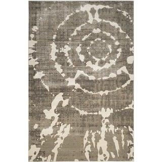 Safavieh Porcello Abstract Contemporary Grey/ Ivory Rug (8'2 x 11')