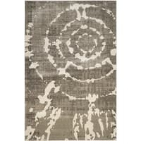 Safavieh Porcello Abstract Contemporary Grey/ Ivory Rug - 8'2 x 11'