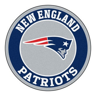 Fanmats NFL New England Patriots Grey and Navy Nylon Roundel Mat (2'3 x 2'3)