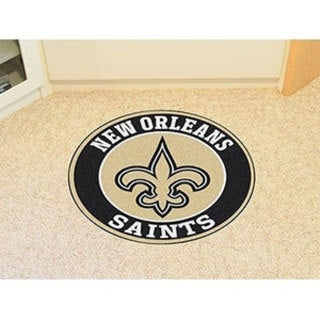 "Link to NFL - New Orleans Saints Roundel Mat 27"" diameter Similar Items in Fan Shop"