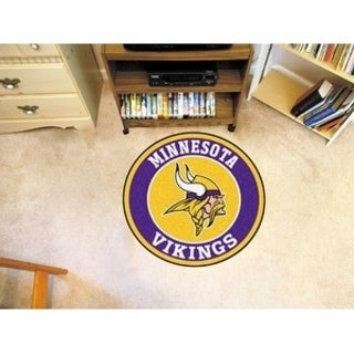 Fanmats NFL Minnesota Vikings Gold and Purple Nylon Roundel Mat (2'3 x 2'3)
