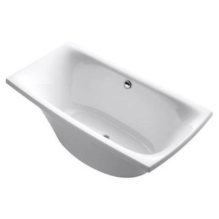 Kohler Escale 6 Foot Acrylic Bathtub with Center Drain in White