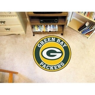Fanmats NFL Green Bay Packers Yellow and Green Nylon Roundel Mat (2'3 x 2'3)