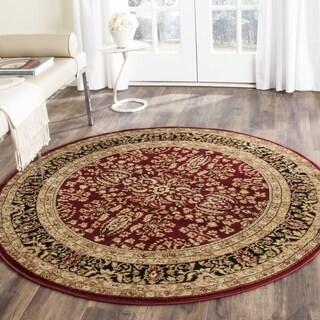 Safavieh Lyndhurst Traditional Oriental Red/ Black Rug (10' Round)