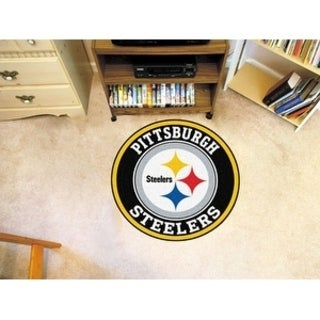 Fanmats NFL Pittsburgh Steelers Gold and Black Nylon Roundel Mat (2'3 x 2'3)