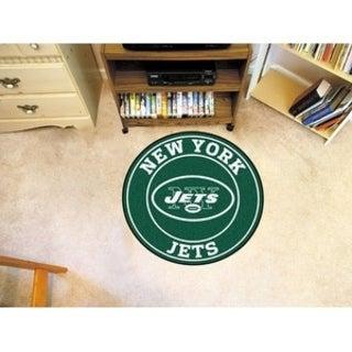 Fanmats NFL New York Jets Green Nylon Roundel Mat (2'3 x 2'3)