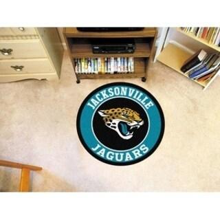 Fanmats NFL Jacksonville Jaguars Aqua and Black Nylon Roundel Mat (2'3 x 2'3)