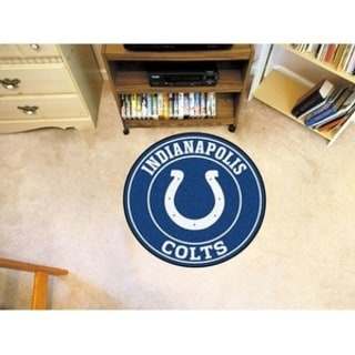 Fanmats NFL Indianapolis Colts Grey and Navy Nylon Roundel Mat (2'3 x 2'3)