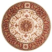 Safavieh Handmade Empire Ivory/ Red Wool Rug - 6' Round
