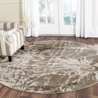 Safavieh Porcello Modern Floral Grey/ Dark Grey Rug (6'7 Round)