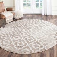 Safavieh Porcello Contemporary Moroccan Grey/ Ivory Rug - 6'7 Round