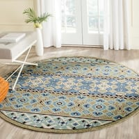 "Safavieh Indoor/ Outdoor Veranda Green/ Blue Rug - 6'7"" x 6'7"" round"