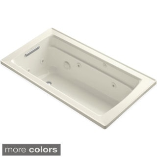Kohler Archer 5 Foot Whirlpool Tub in Biscuit