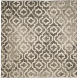 Safavieh Porcello Contemporary Moroccan Grey/ Ivory Rug (6'7 Square)