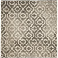 Safavieh Porcello Contemporary Moroccan Grey/ Ivory Rug (6'7 Square)