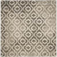 "Safavieh Porcello Contemporary Moroccan Grey/ Ivory Rug - 6'7"" x 6'7"" square"