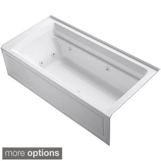 Kohler Archer 6 Foot Whirlpool Tub in White