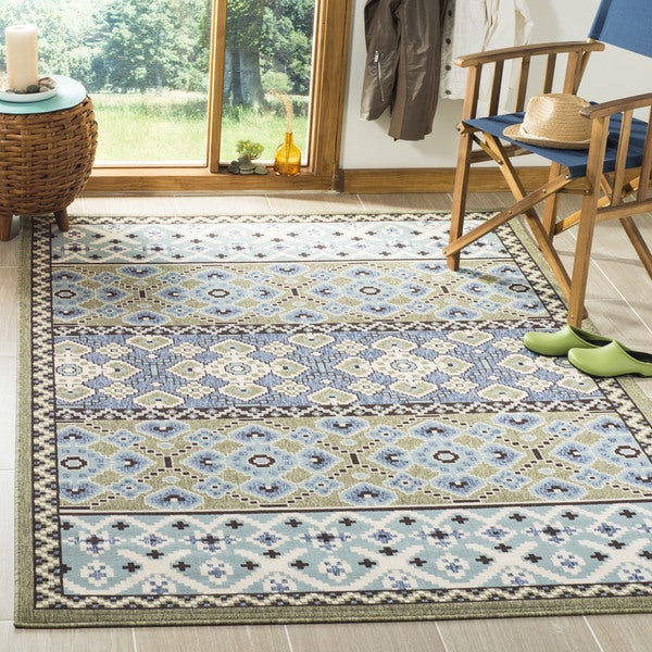 Shop Safavieh Indoor Outdoor Veranda Green Blue Rug 6