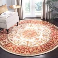 Safavieh Handmade Empire Ivory/ Red Wool Rug - 8' Round