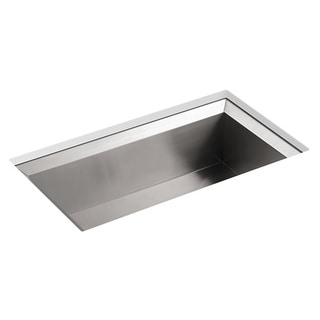 Kohler Poise Undermount Stainless Steel 33x18x9.75 0-hole Single Bowl Kitchen Sink