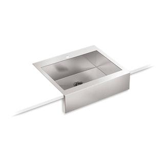Kohler Vault Top Mount Stainless Steel 29.75x24.313x9.313 1-hole Single Bowl Kitchen Sink
