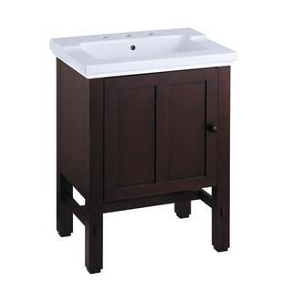 Kohler Tresham 23-3/4 inch x 18-1/4 inch x 32-1/2 inch Vanity Cabinet Only in Woodland