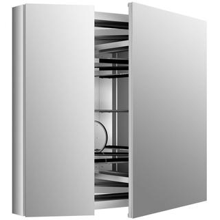 Kohler Verdera 34 inch W x 30 inch H Recessed Medicine Cabinet in Anodized Aluminum