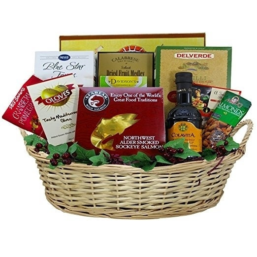 Shop Heart Healthy Gourmet Food Smoked Salmon Gift Basket - On Sale - Free Shipping Today - Overstock - 10314929