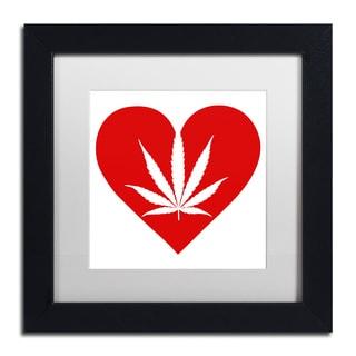 Potman 'Love Leaf' Black Framed Canvas Art