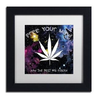 Potman 'Free Your Mind' Black Framed Canvas Art